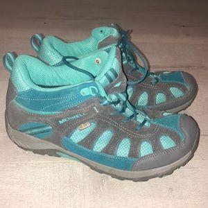 Merrell select grip teal grey sneakers women's 7